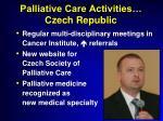 palliative care activities czech republic