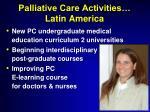 palliative care activities latin america