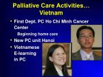 palliative care activities vietnam