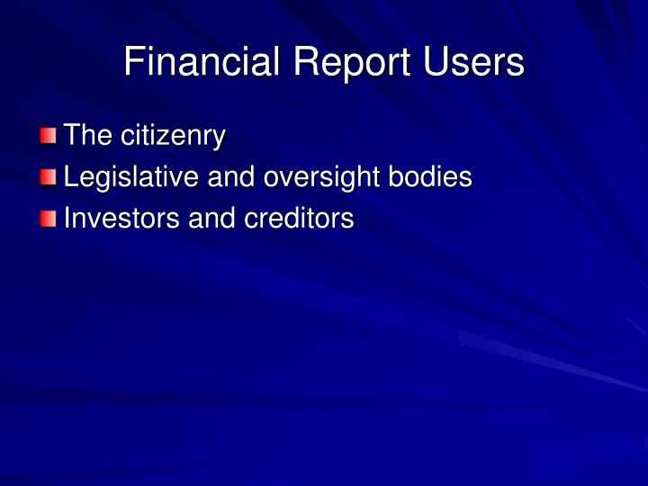 Financial Report Users