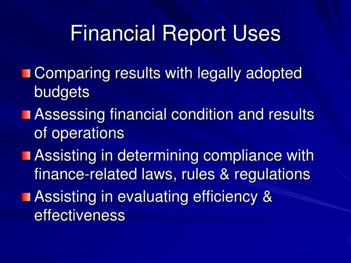 Financial Report Uses
