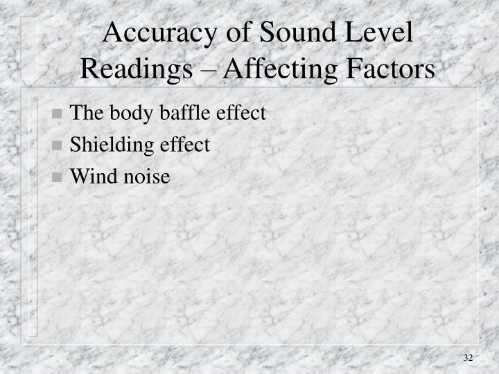 Accuracy of Sound Level