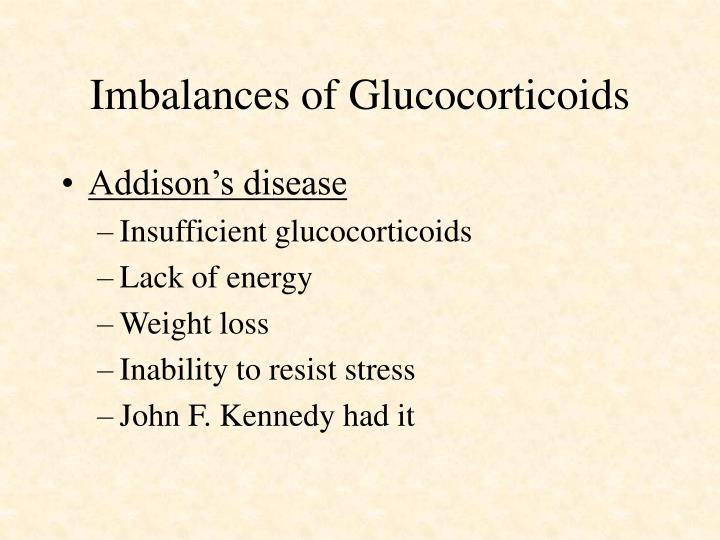 Imbalances of Glucocorticoids