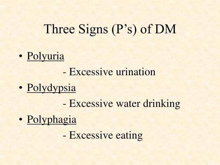 Three Signs (P's) of DM