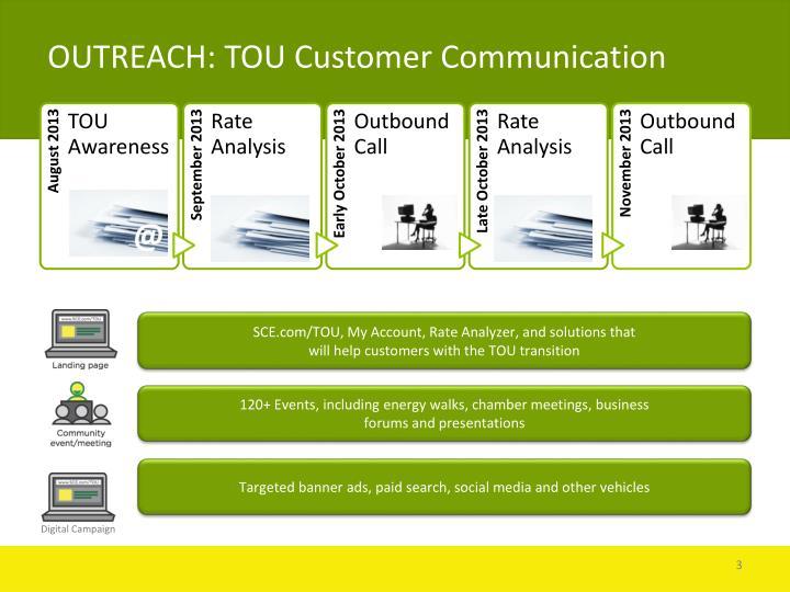 OUTREACH: TOU Customer Communication