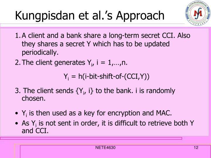 Kungpisdan et al.'s Approach