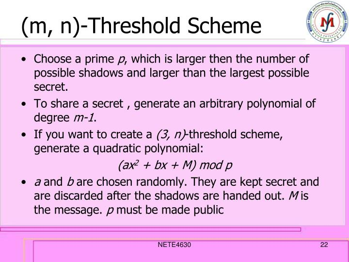 (m, n)-Threshold Scheme