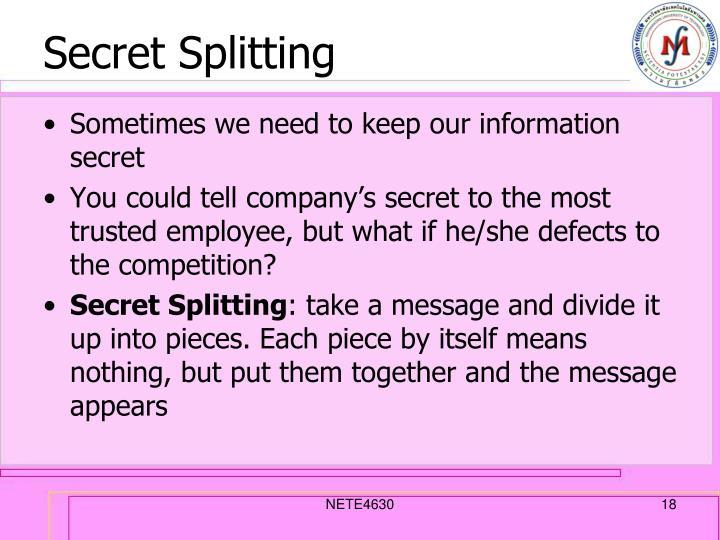 Secret Splitting