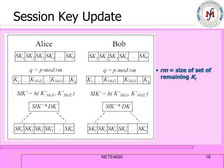 Session Key Update