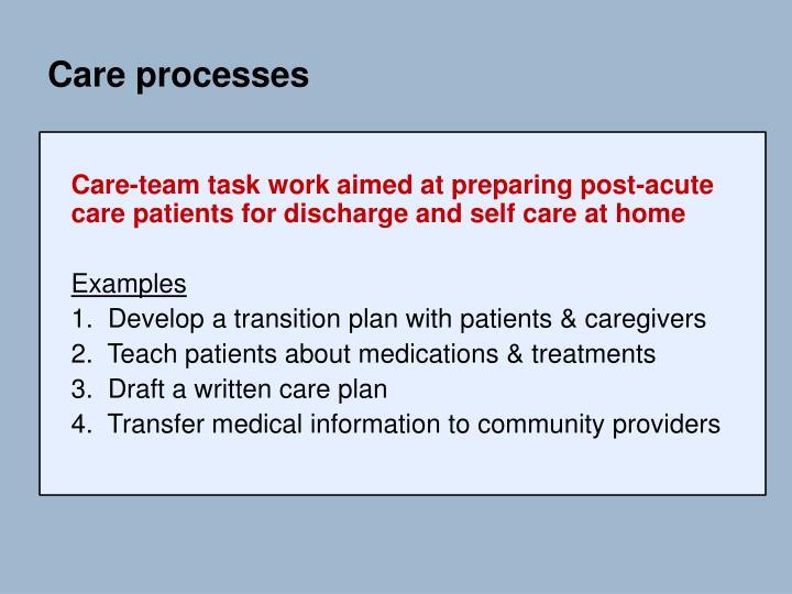 Care processes