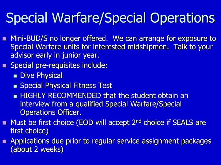 Special Warfare/Special Operations