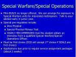 special warfare special operations