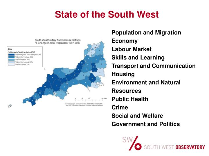 State of the South West