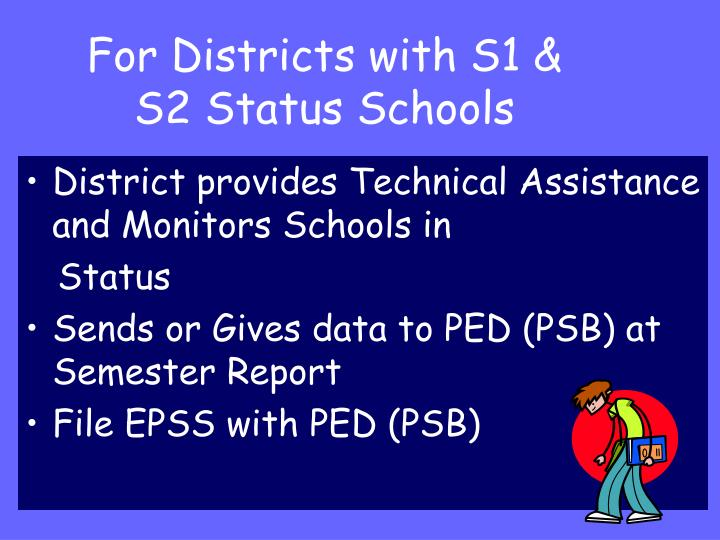 For Districts with S1 & S2 Status Schools