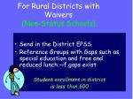 for rural districts with waivers non status schools