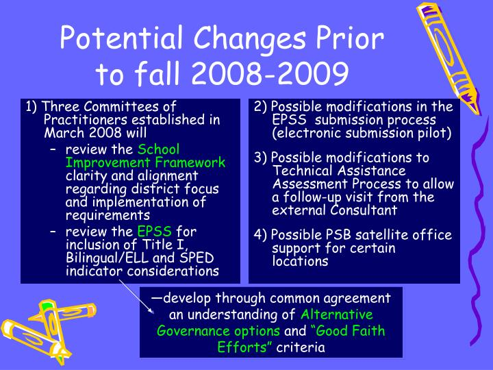 1) Three Committees of Practitioners established in March 2008 will