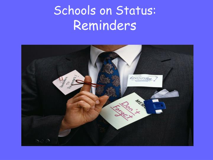 Schools on Status: