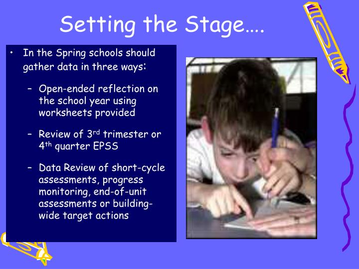 Setting the Stage….