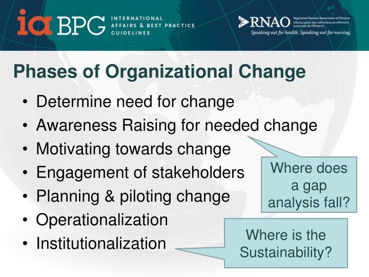 Phases of Organizational Change