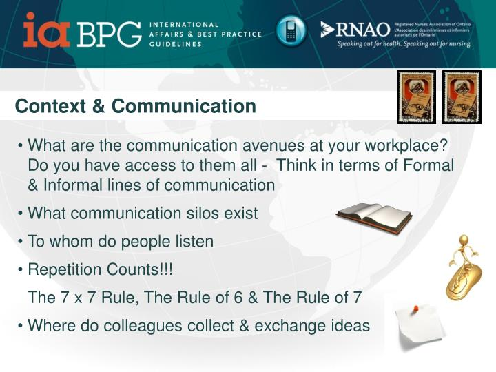 Context & Communication