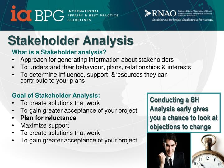 What is a Stakeholder analysis?