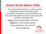 ontario stroke system oss