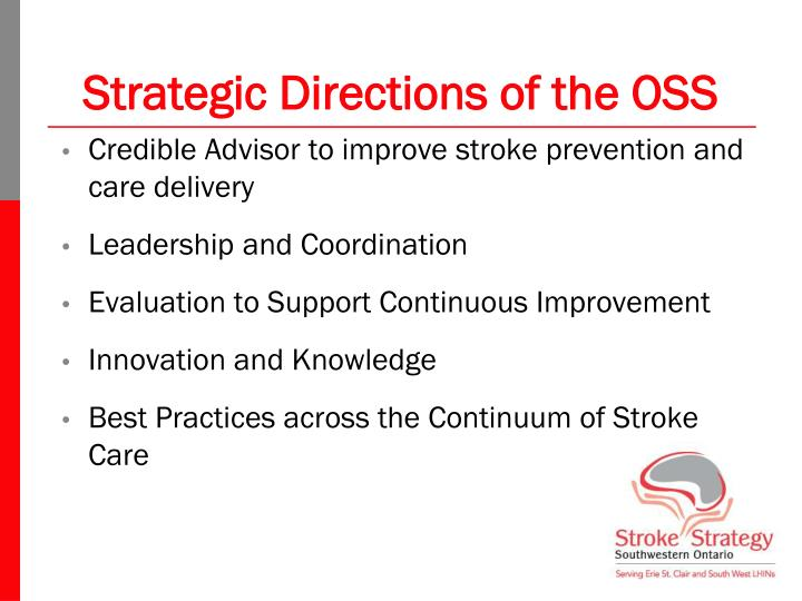 Strategic Directions of the OSS