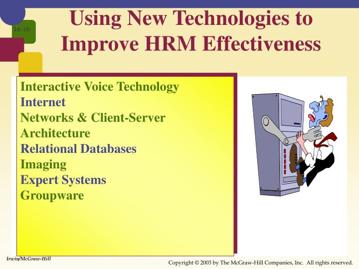 Using New Technologies to Improve HRM Effectiveness