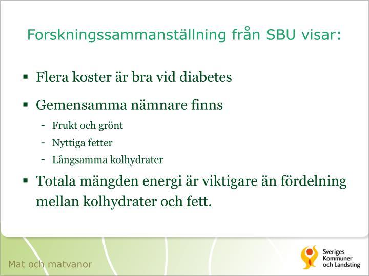 Forskningssammanställning från SBU visar: