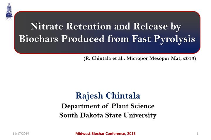 Nitrate Retention and Release by