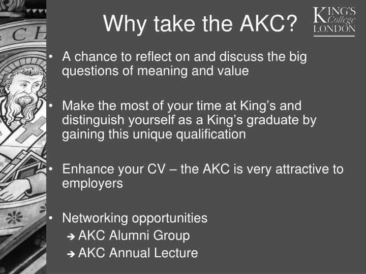 Why take the AKC?