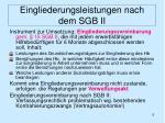 eingliederungsleistungen nach dem sgb ii5