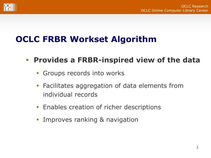 OCLC FRBR Workset Algorithm