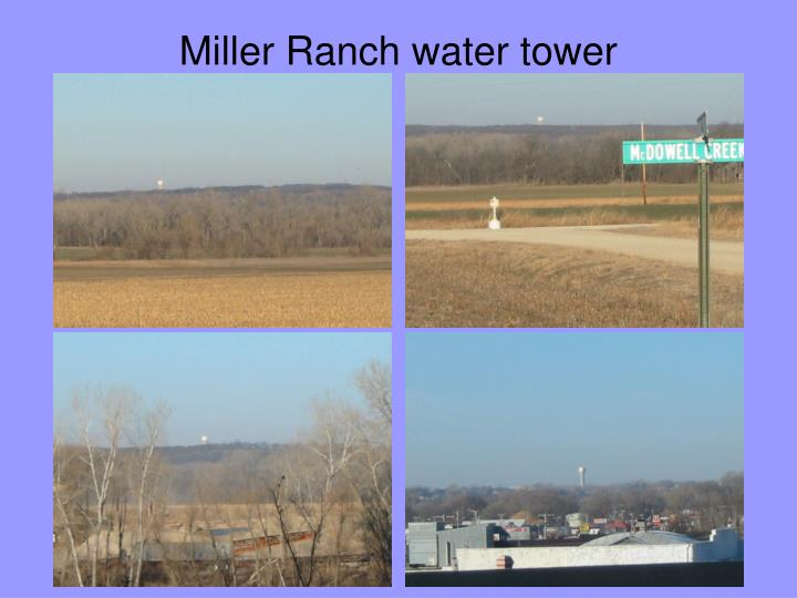 Miller Ranch water tower