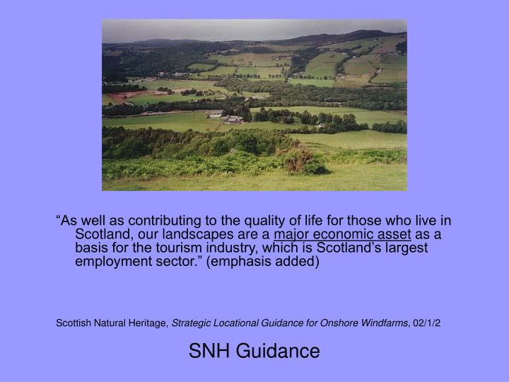 SNH Guidance