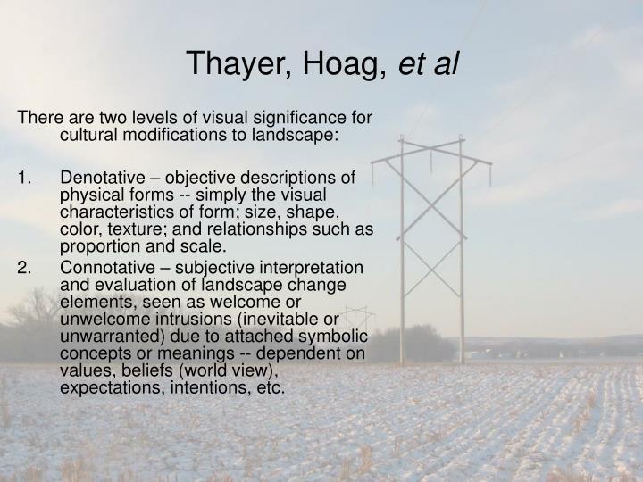 Thayer, Hoag,