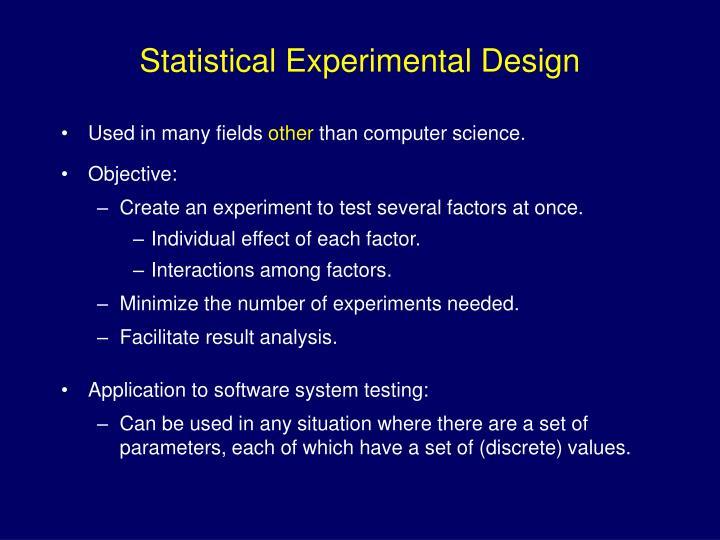 Statistical Experimental Design