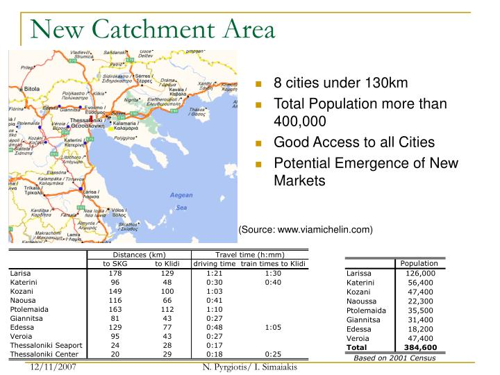 New Catchment Area