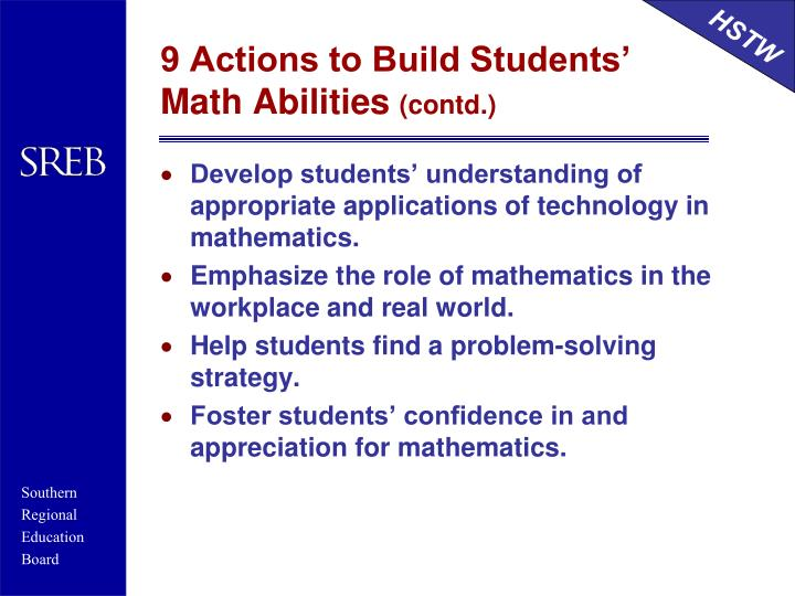 9 Actions to Build Students' Math Abilities