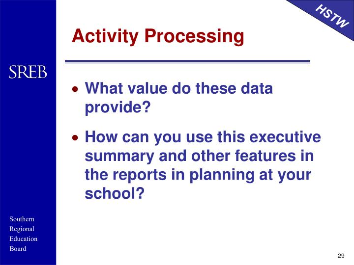 Activity Processing