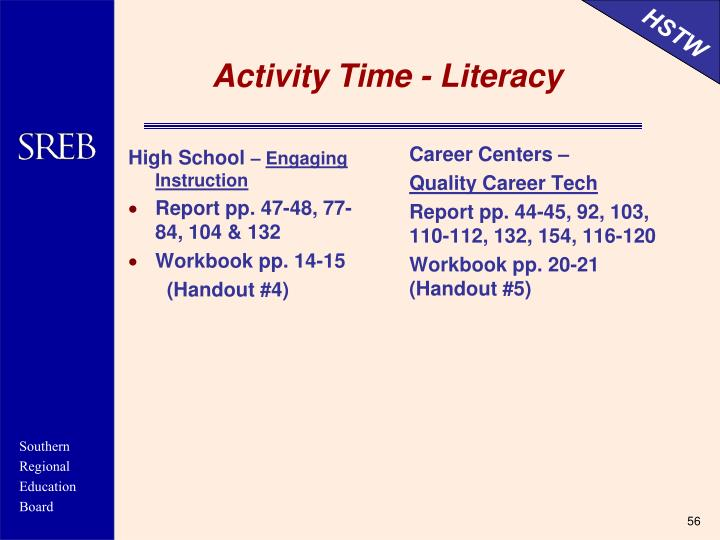 Activity Time - Literacy