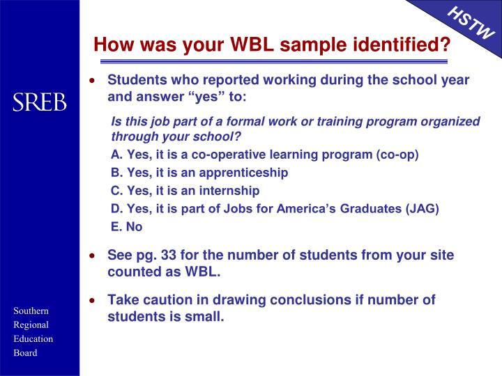 How was your WBL sample identified?