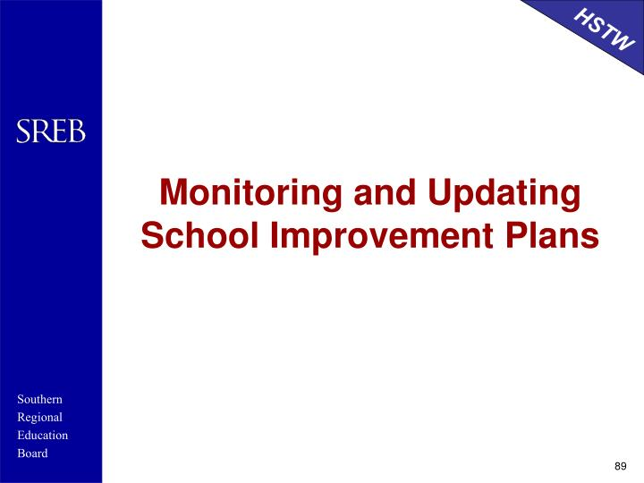 Monitoring and Updating School Improvement Plans