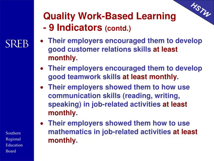 Quality Work-Based Learning
