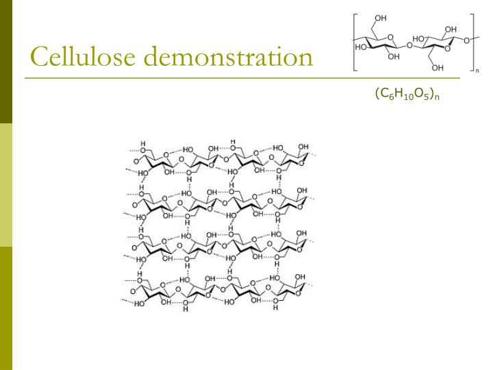 Cellulose demonstration