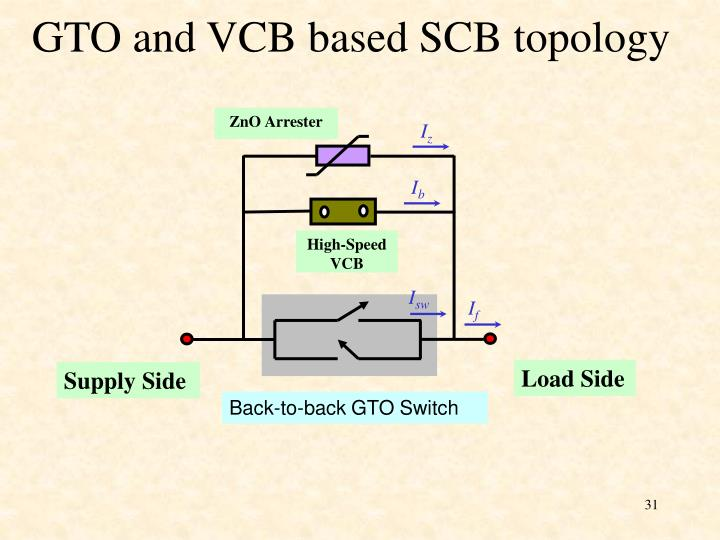GTO and VCB based SCB topology
