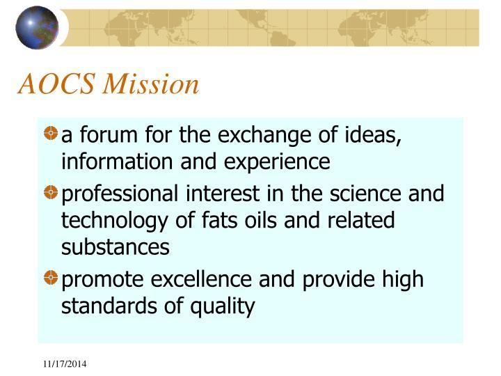 AOCS Mission
