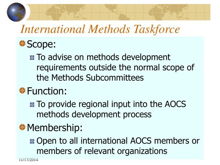 International Methods Taskforce