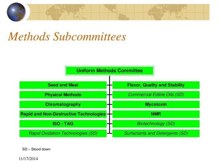 Methods Subcommittees