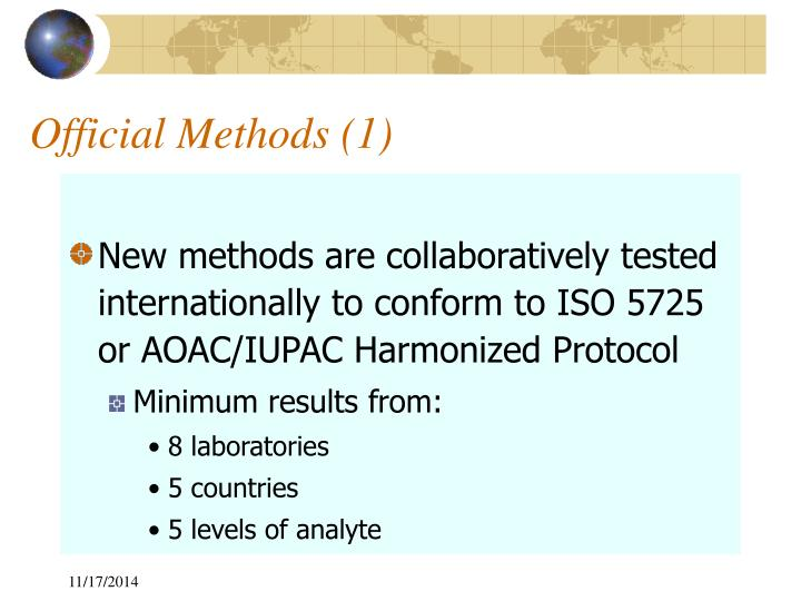 Official Methods (1)